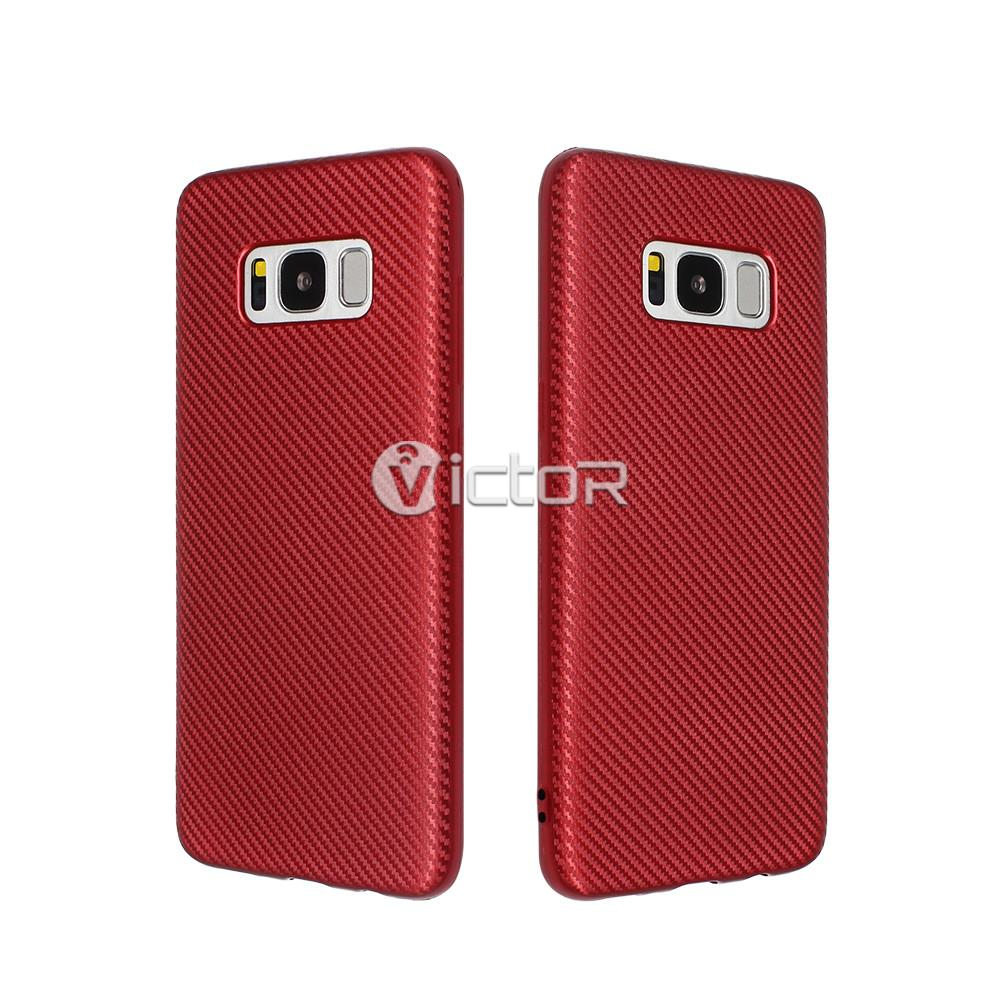 carbon fiber phone case - phone case for Samsung s8 - protective phone case - (10)