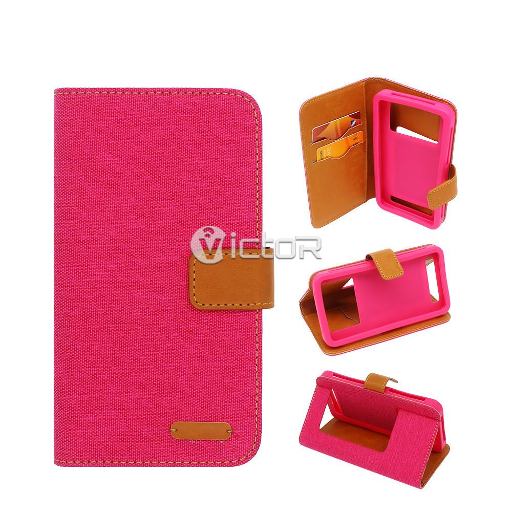 5 inch phone case - wallet leather case - leather phone case - (11)