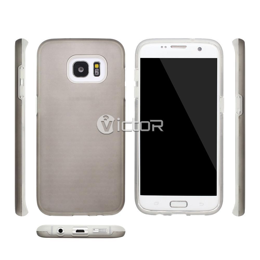 rubber phone cases - samsung s7 edge phone case - combo case - (2)