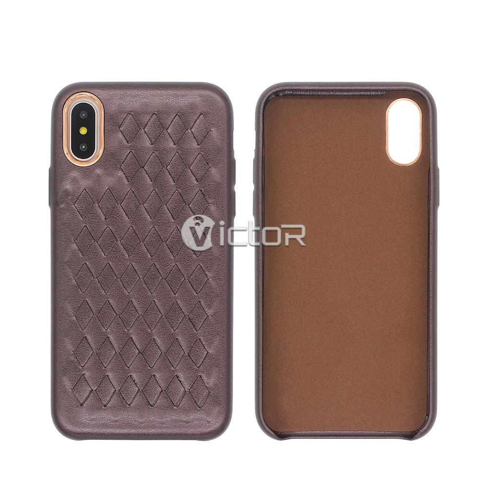 iphone x slim leather case - slim leather case - iphone x leather case - (1)