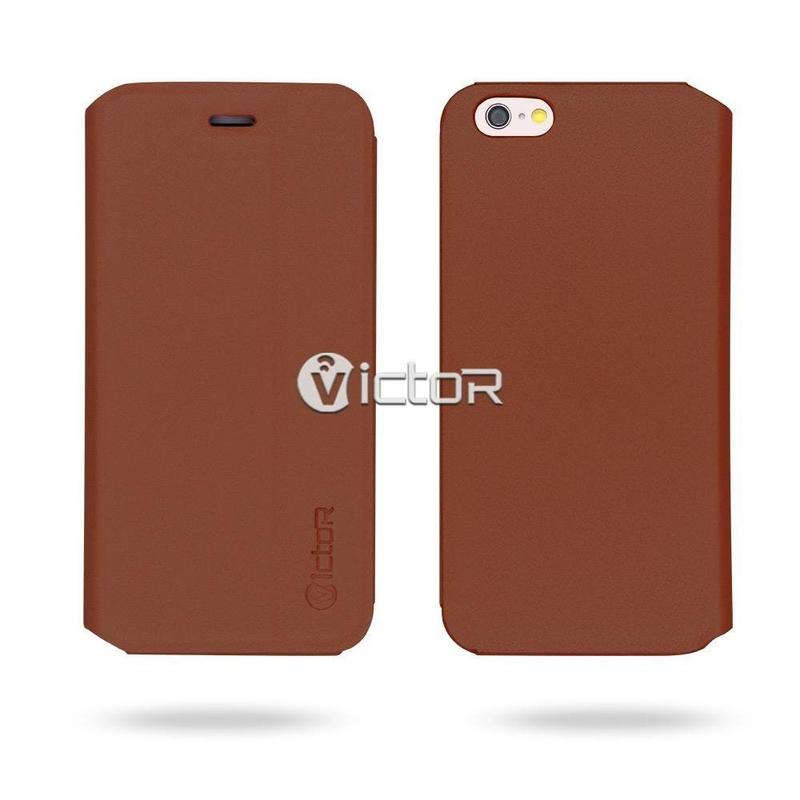 Victor VI-LC-160410 PU de manera Simple funda de cuero para el iPhone 6s