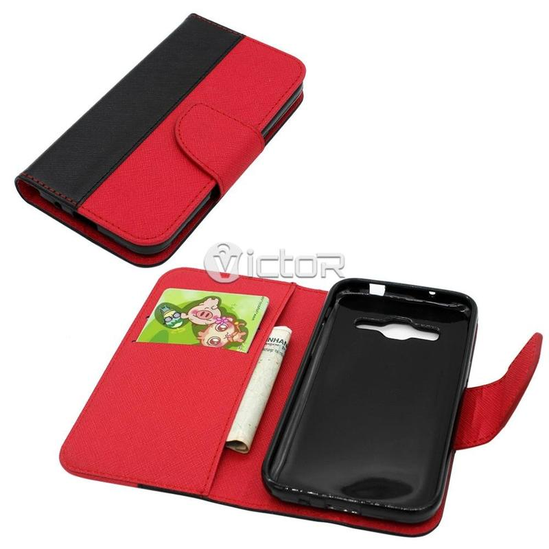 Victor PU Contrast Color Leather Case for Samsung G530
