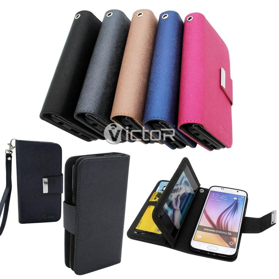 Victor Wallet Leather Case for Samsung S6