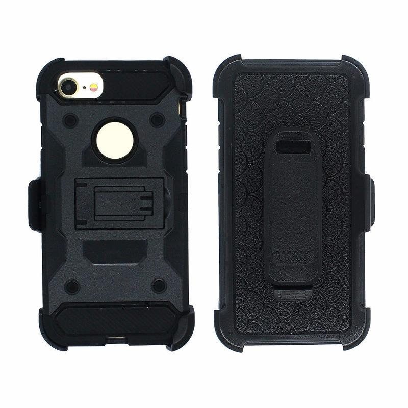 Victor TPU+PC Warrior Holster Kickstand Case for iPhone 7
