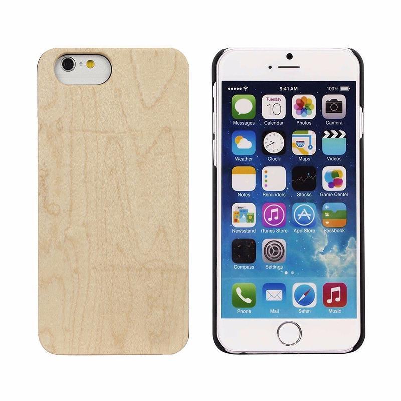 Victor PC más funda protectora de madera dura del iPhone