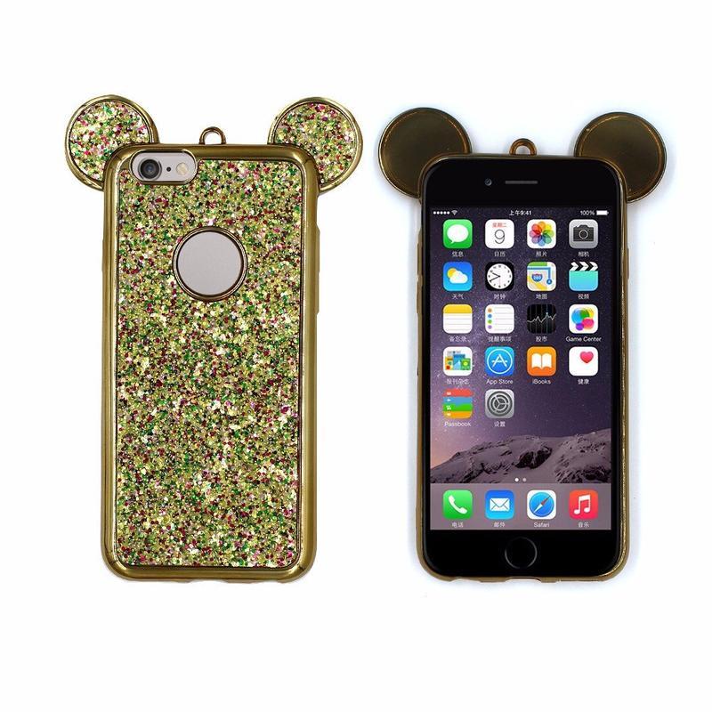 Victor Pretty Micky orejas TPU teléfono casos para iPhone 6s