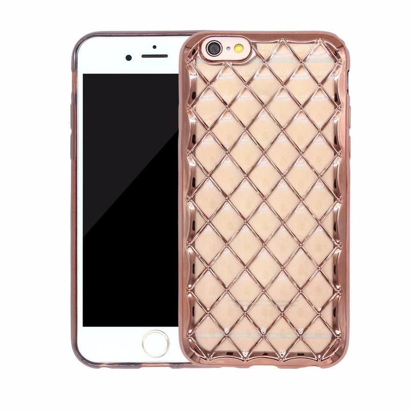 Victor 3D Rhombus Electroplating Apple iPhone 6 Pretty Phone Protector Cases