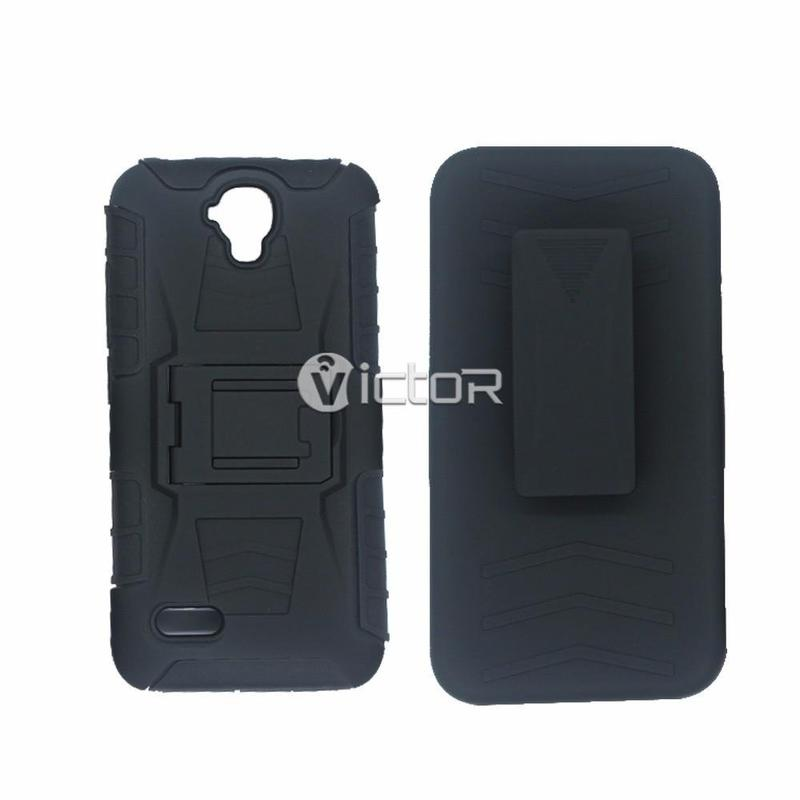 Victor Black TPU+PC Huawei Y560 Back Cover Case