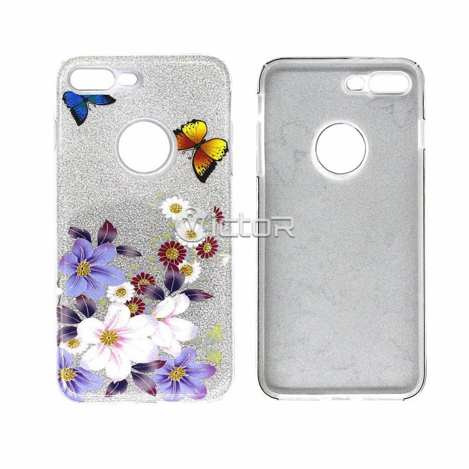 Victor PC+TPU Case with Glittering Paper for iPhone 7 Plus