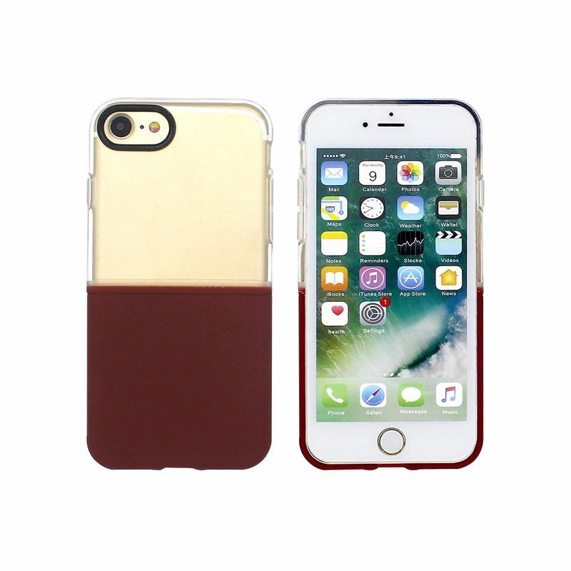 Victor 3in1 Half Clear TPU Fundas para iPhone 7