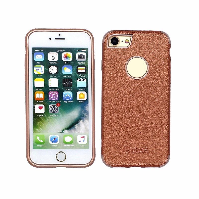 Casos de teléfono de cuero de lujo personalizable Victor iPhone 7