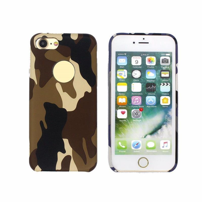 Teléfono de funda de camuflaje para iPhone 7