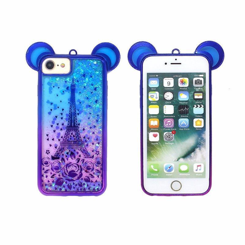 Galvanoplastia el caso Protector de lujo para iPhone 7 con orejas adorables