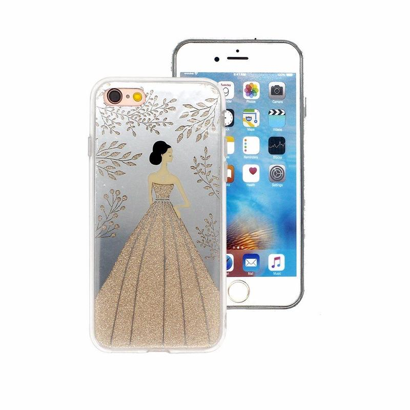 Both Sides IMD Glitter Phone Cases for iPhone 7