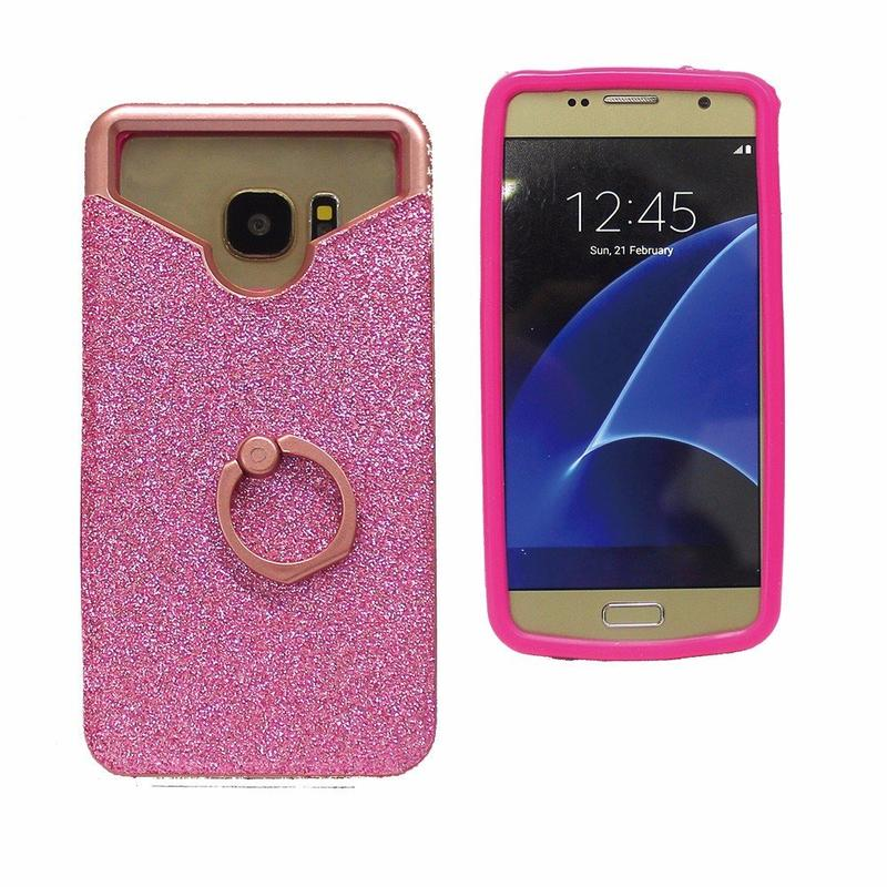 Glittering 3in1 Universal Paste Leather Case with Ring