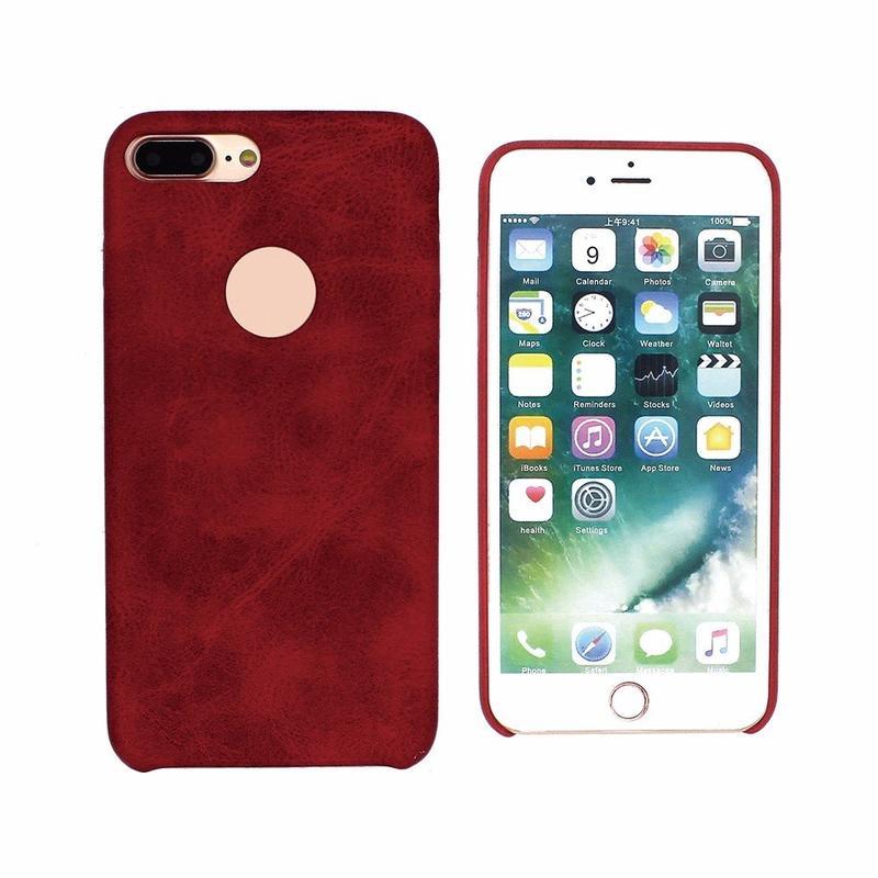 Funda de cuero puro para iPhone 7 Plus