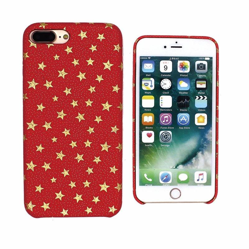 iPhone 7 Plus Leather Case Decorated with Little Stars