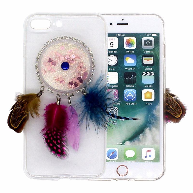 Victor Beautiful Transparent iPhone 7 Plus Quicksand Case