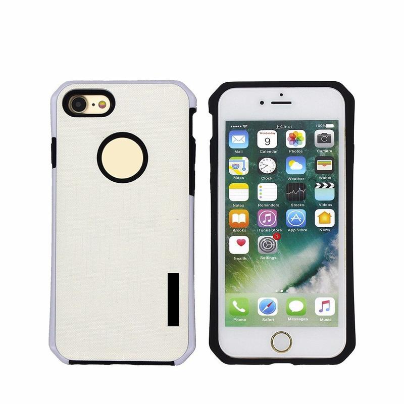 2in1 funda protectora de cuero fresco del iPhone 7