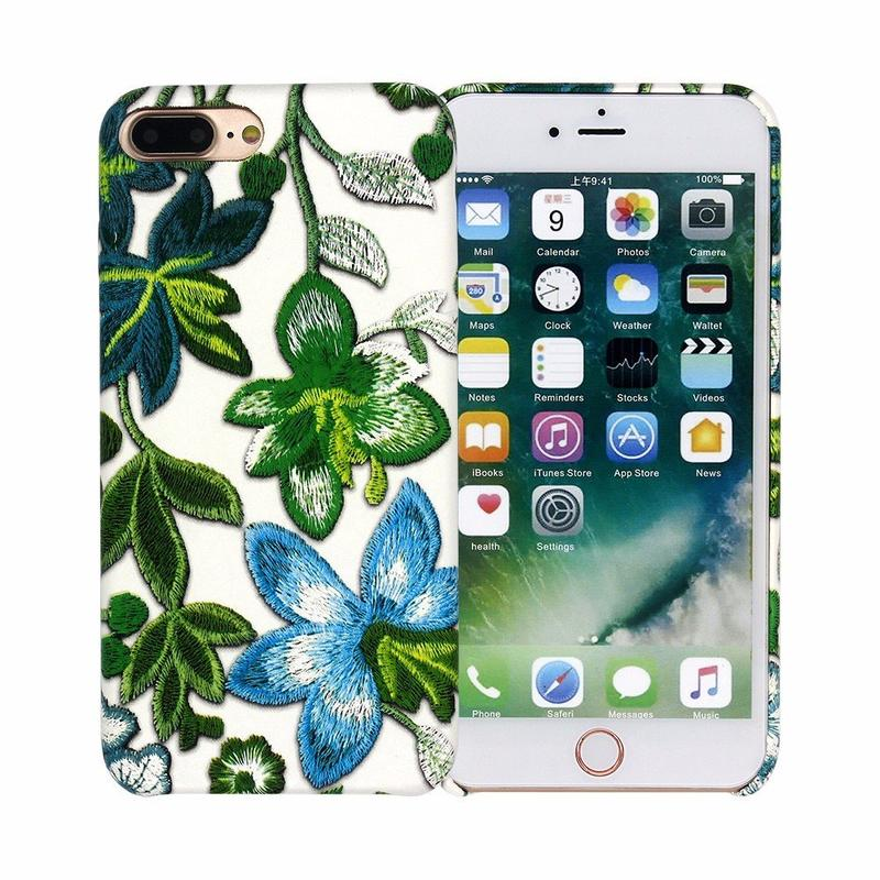 3D Bordado Niza iPhone 7 Plus Funda de Cuero