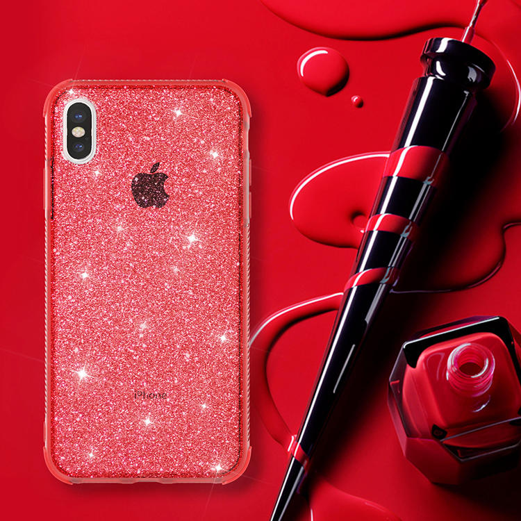 Clear Pure Color Glitter TPU Case for iPhone XS Wholesale