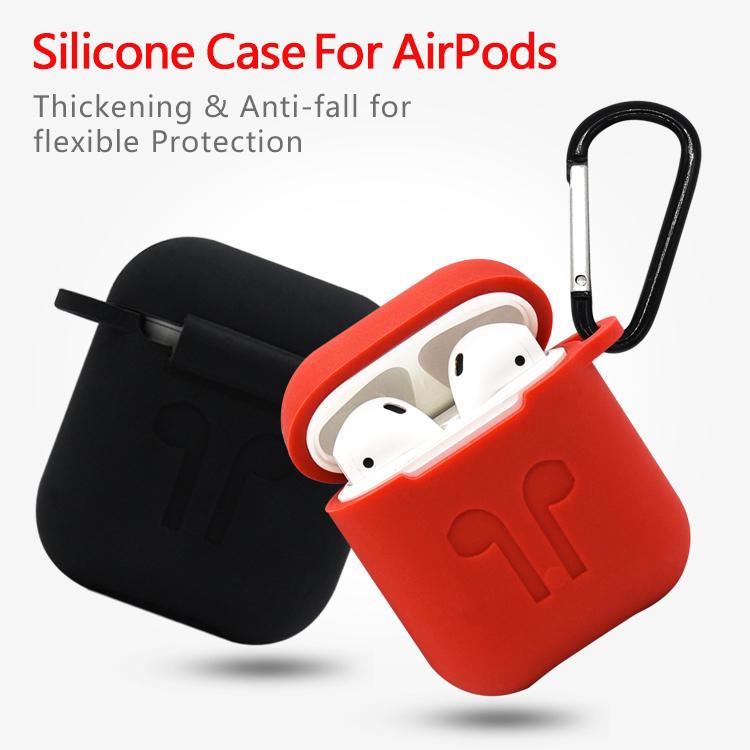 Airpod que carga la cubierta del caso, funda de silicona para Airpods con llavero al por mayor