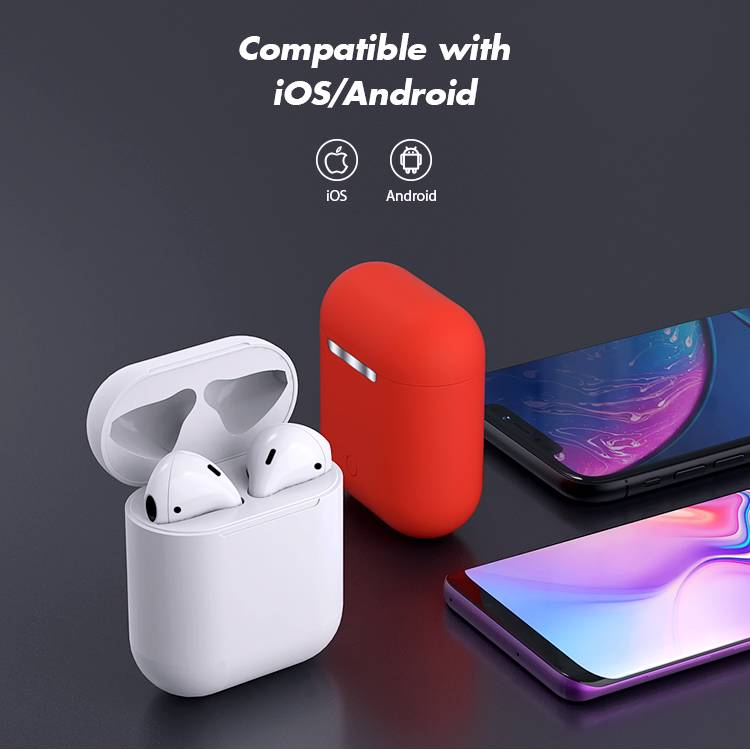 Bluetooth Earphone i12 Tws Earphone Compatible con IOS y Android