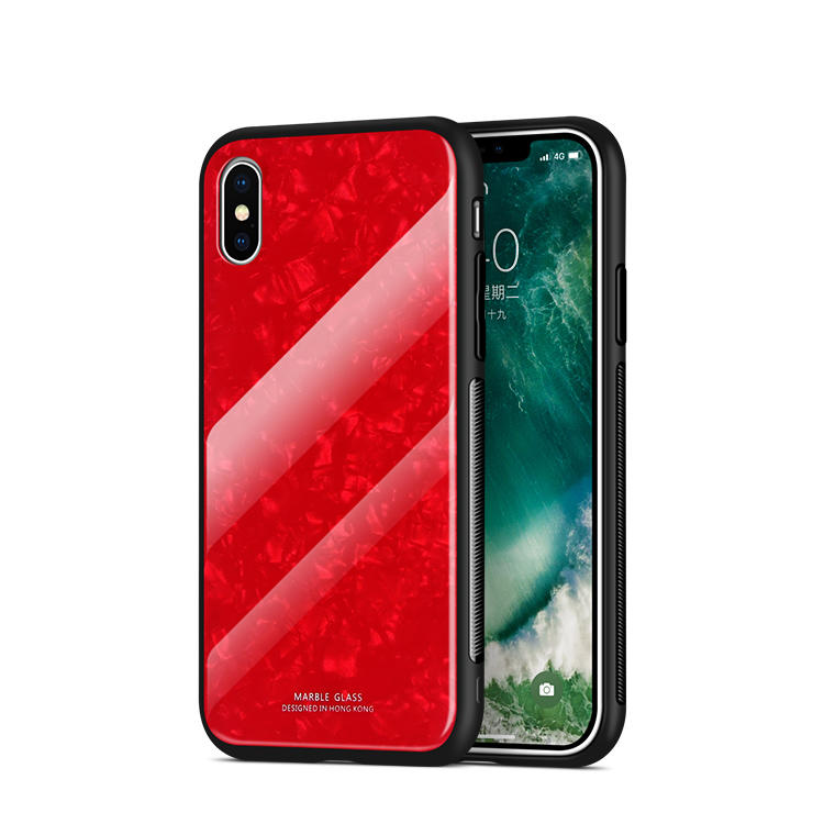 9H Tempered Glass Phone Case for iPhone XS