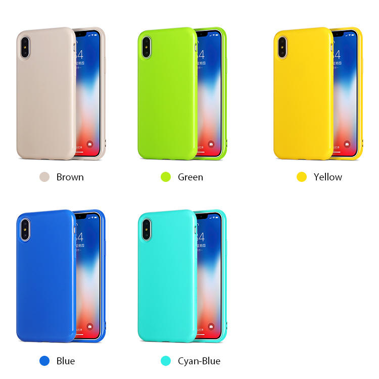 Candy Color Soft TPU Cell phone case for iPhone X XS