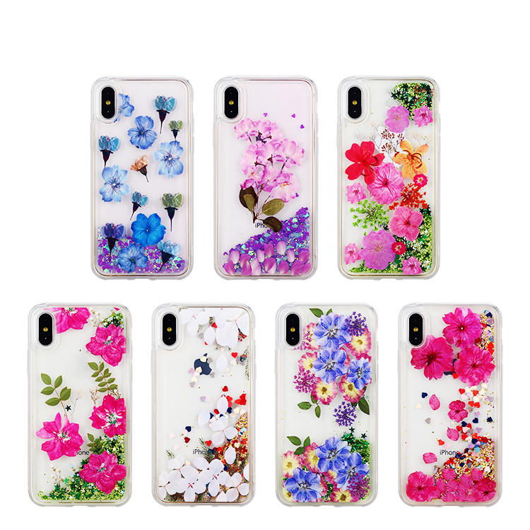 Flower Clear Quicksand Phone Case for Huawei P30