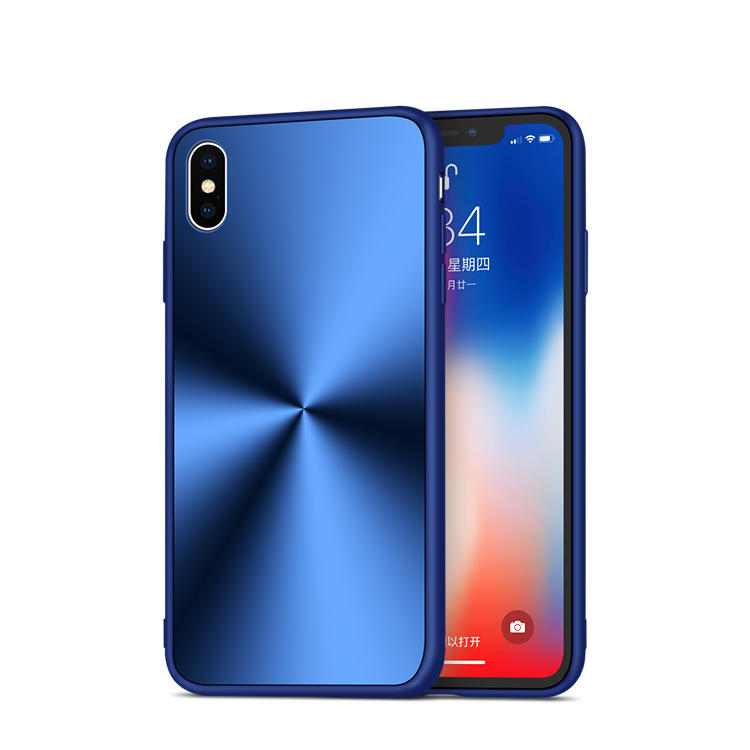 Shockproof Acrylic Phone Case for iPhone XS metal design back cover