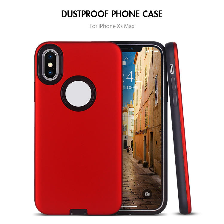 Wholesale Shockproof  2 in 1 TPU PC Phone Case for iPhone XS