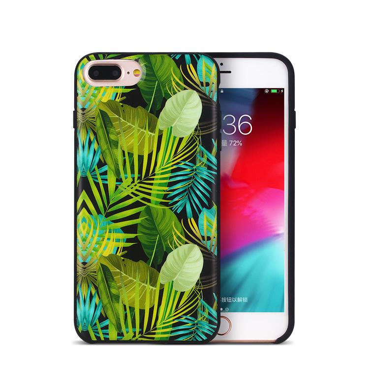 Custom design Liquid silicone phone case for iPhone 8 plus