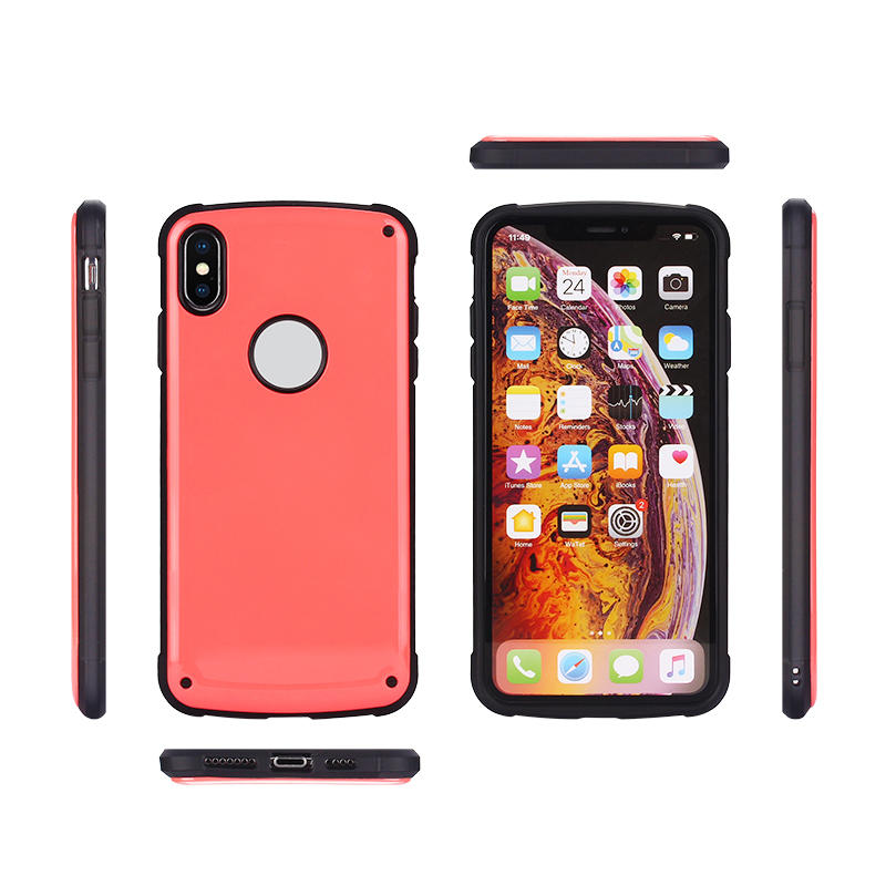 Candy Color 2 in 1 Cell Phone Covers  for iPhone XS With logo hole