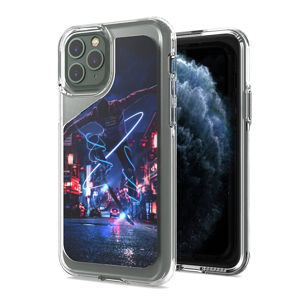 Custom Pattern Hybrid Clear Case for iPhone 11 pro