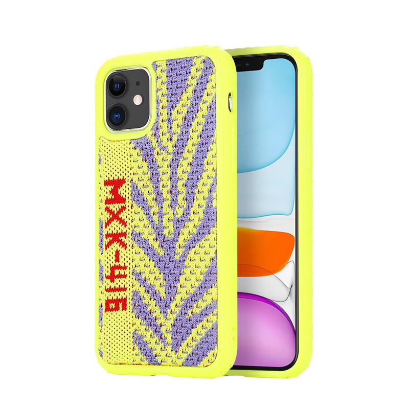 Funda de teléfono de Sneaker funda colorida de tela de tejido de Yeezy para iPhone 11