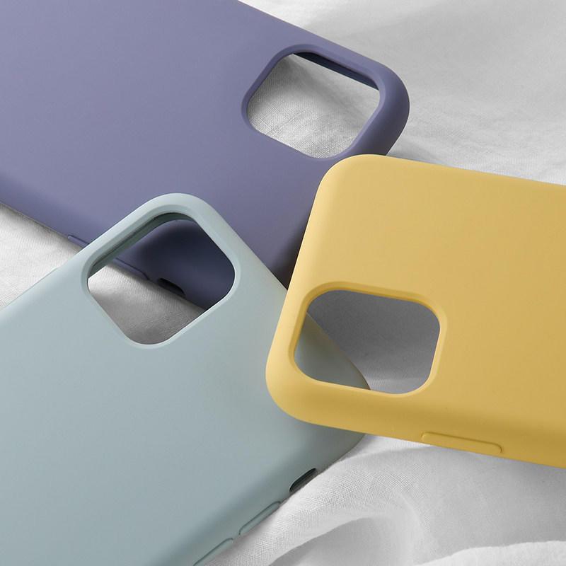 Funda de silicona líquida para iPhone 11 Pro con Logo de Apple