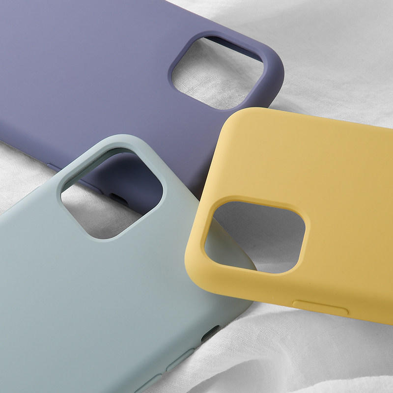 Funda de silicona líquida para iPhone 11 Pro con Logo de Apple