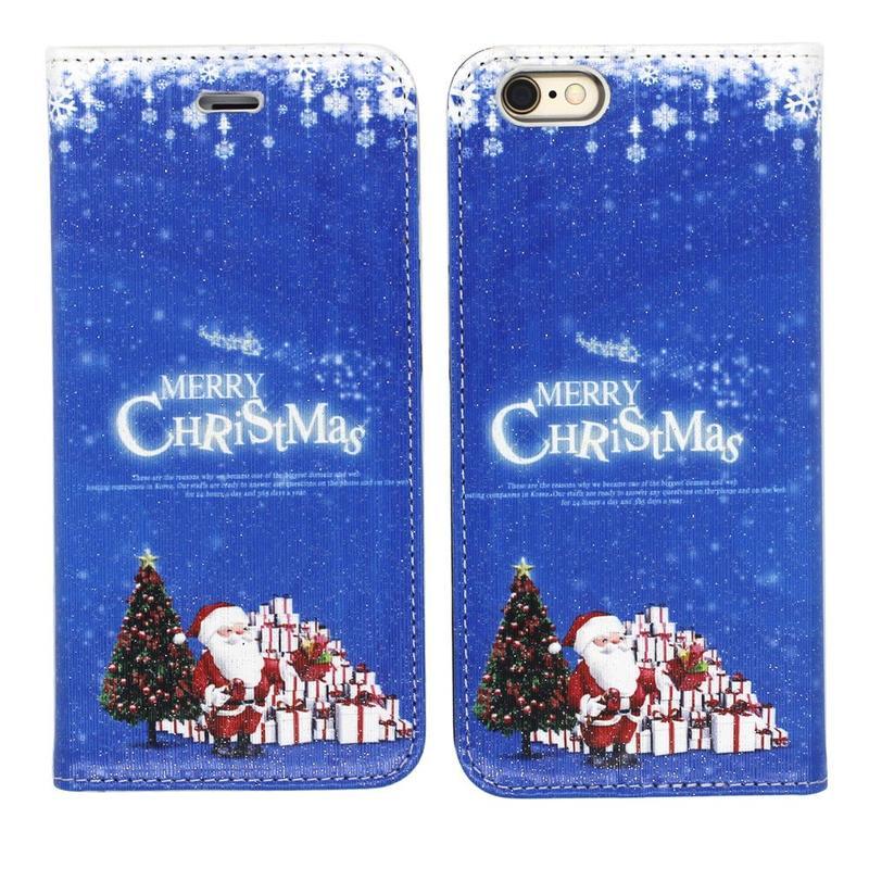 Victor VI-LC-151010 PU Navidad impresión funda de cuero para el iPhone 6