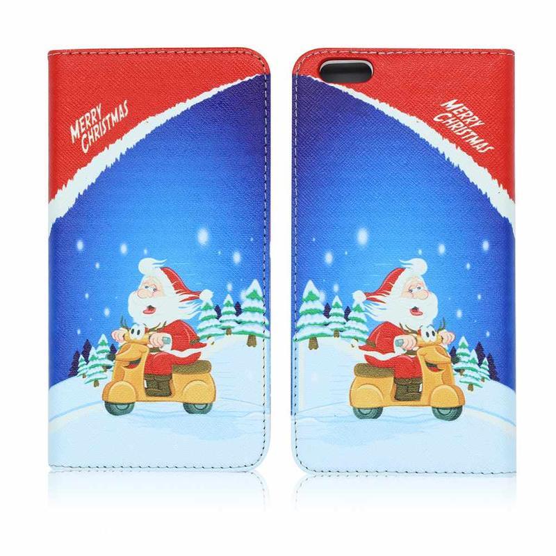 Victor VI-LC-151008 de Navidad Estuche de cuero magnético para el iPhone 6s