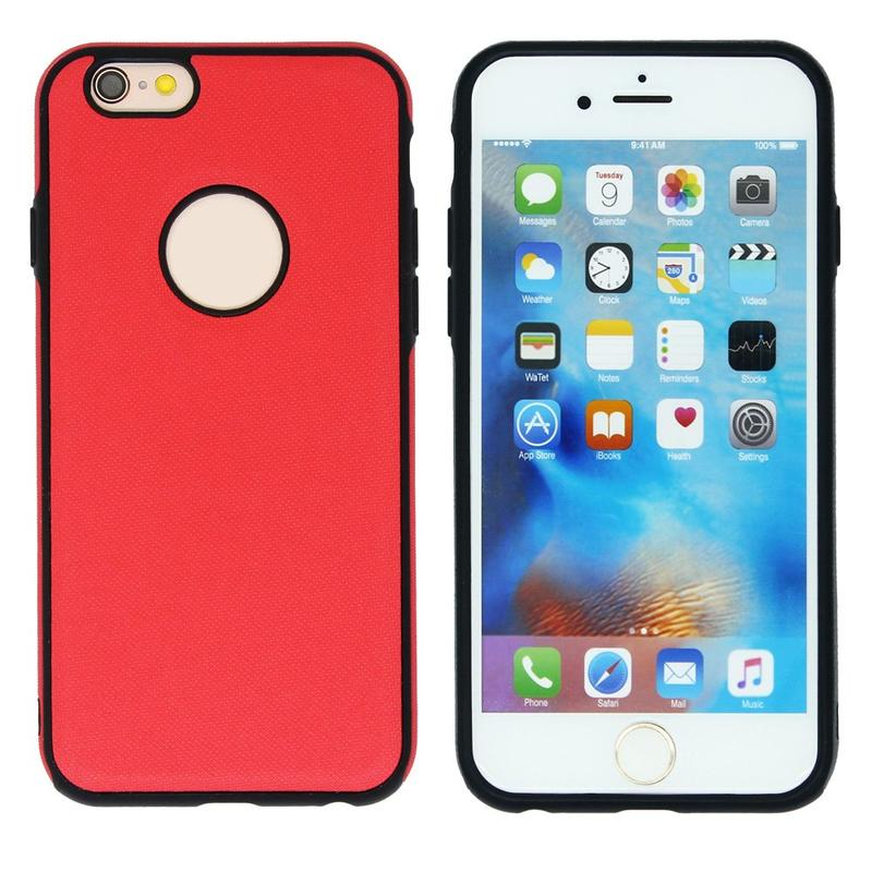 Victor VI-TPUPC-K004 caso de piel TPU para iPhone