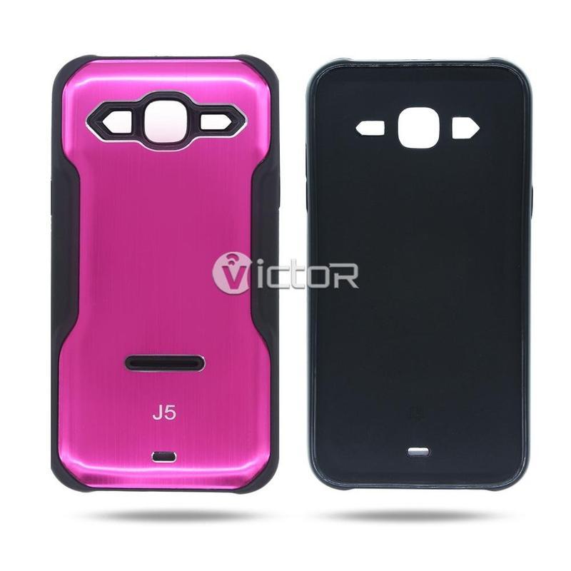 Caso TPU + PC de Víctor VI-caso-Y010, nuevo cuadro de diseño para el caso de Samsung J5 con pata de cabra