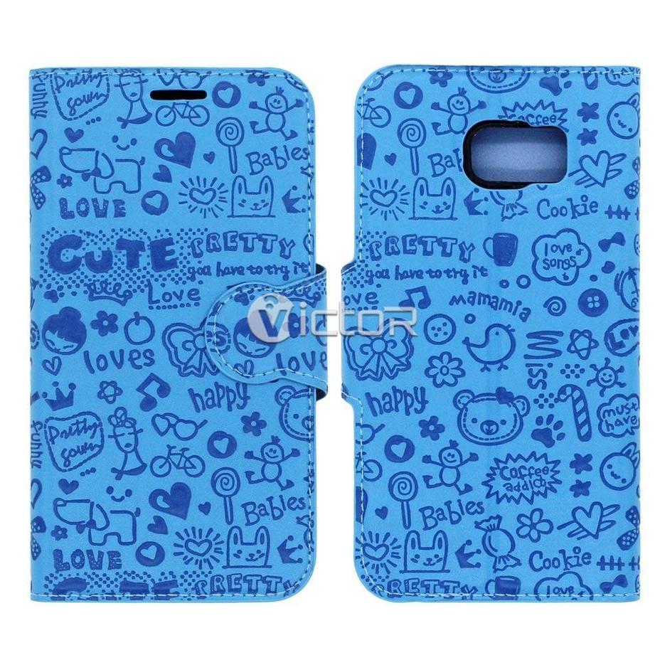 Victor VI-LC-002 hadas Material Flip funda para Samsung Galaxy S6