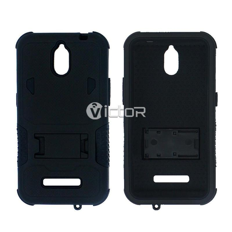 Victor VI-CASO-007 silicona PC Protector completo pesado Robot caso para ZTE Z820