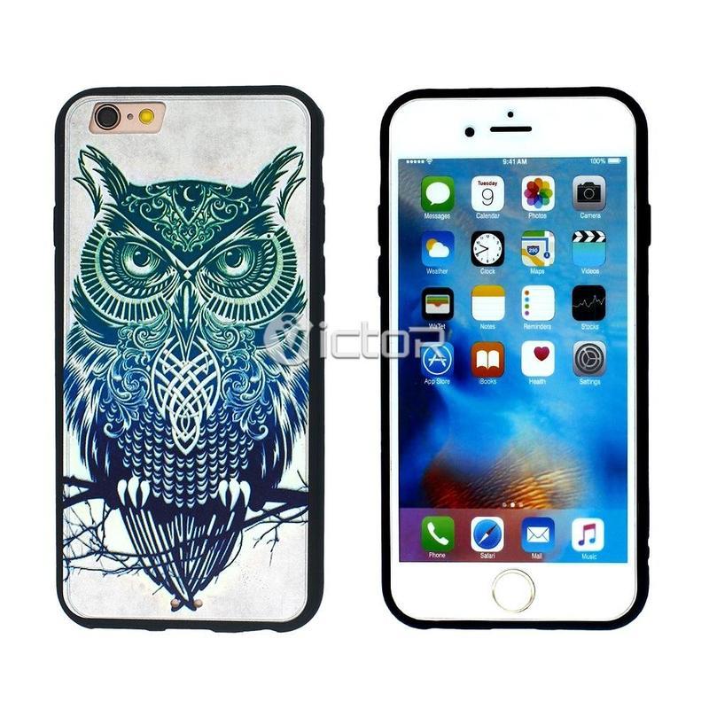 Caso de impresión de Vicot VI-caso-008 TPU + PC OEM para iPhone 6s