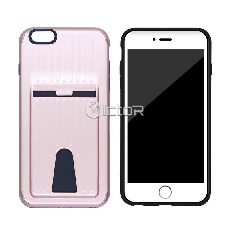 Funda de móvil de Solt tarjeta de moda de TPU + PC Victor VI-caso-009 para el iPhone 6s más