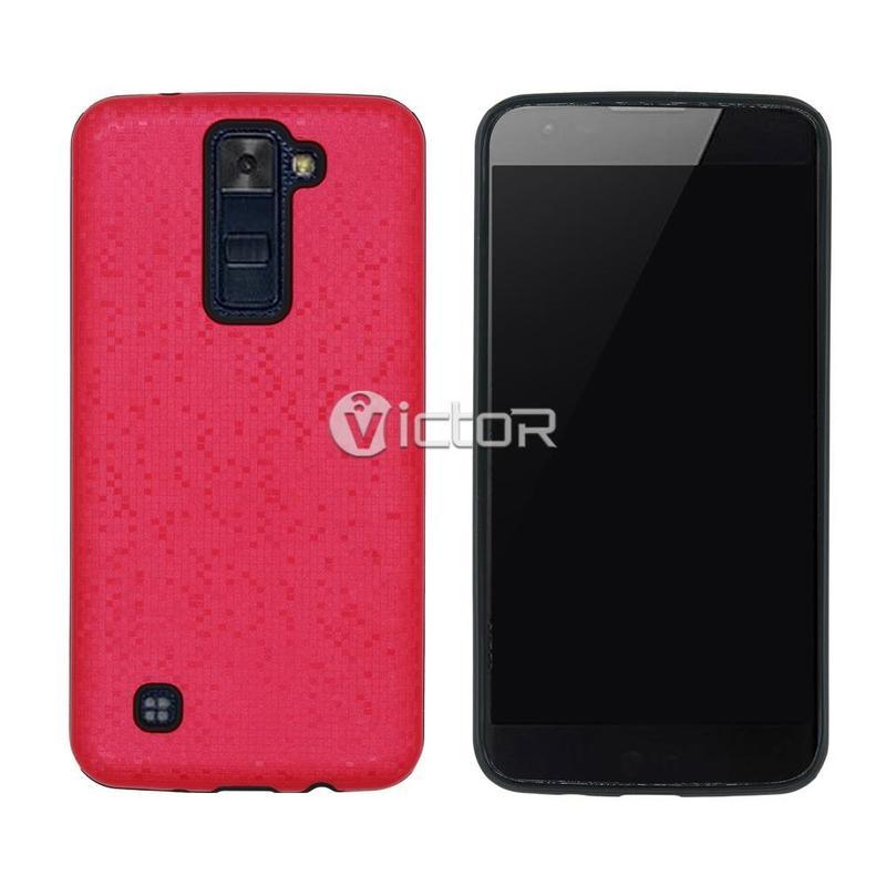 Moda Victor VI-CASO-X169292 TPU + PC 2 en 1 Combo mosaico caso para LG K8