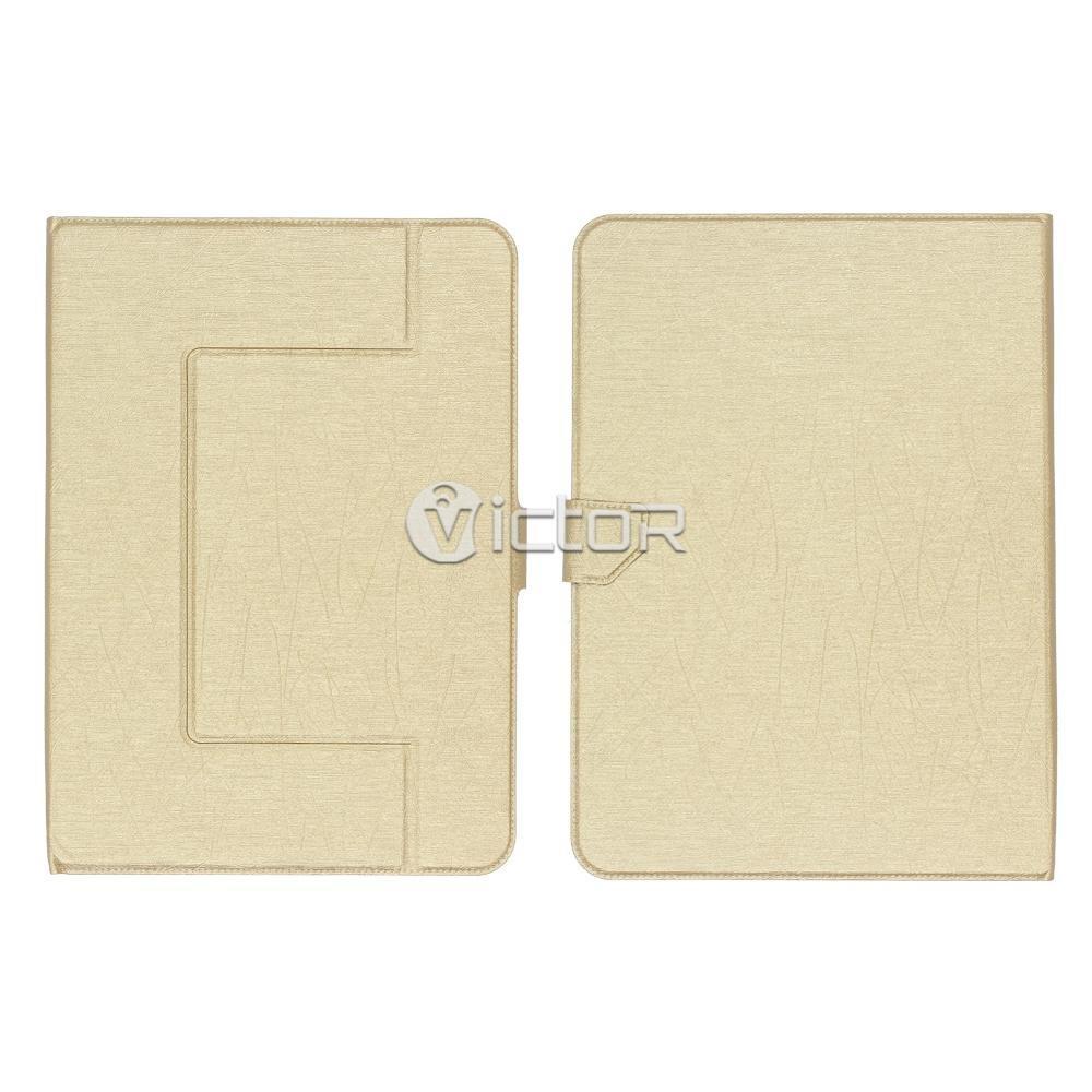 Victor VI-LC-015 elegante Silicona universal PU estuche de cuero para Tablet