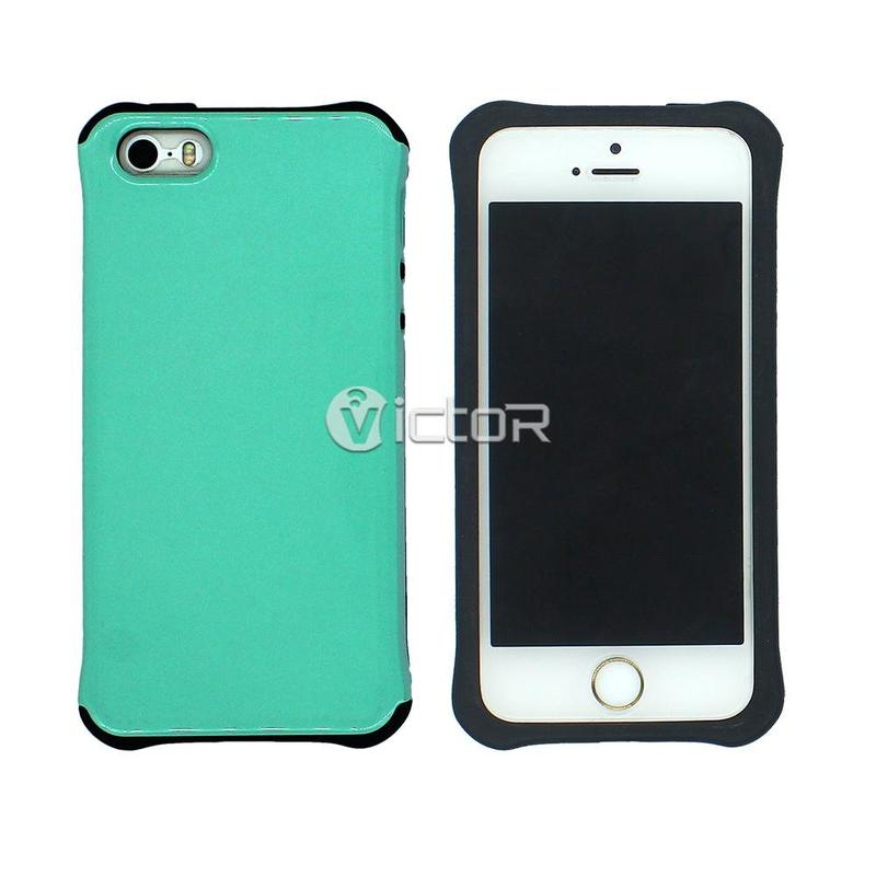 Victor VI-CASO-021 PC UV capa a prueba de choques diseño móvil de TPU para el iPhone SE