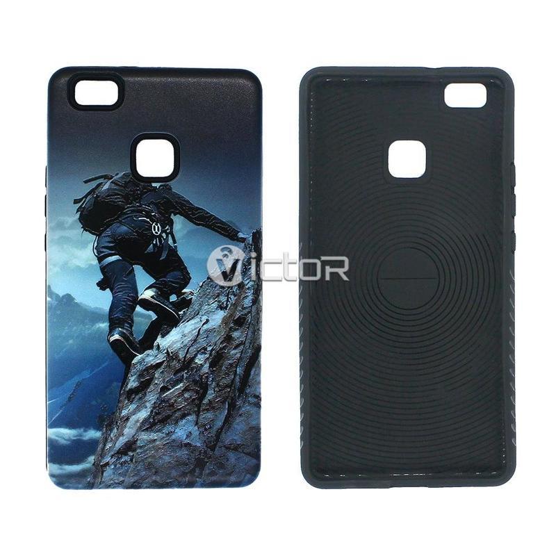 Victor VI-CASO-024 TPU + PC increíble El efecto visual relieve de la impresión caso especial para Huawei P9 lite